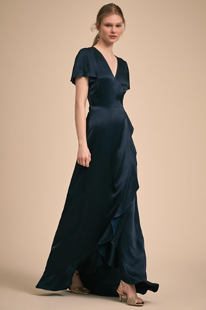 Ghost London Navy Phoebe Dress | BHLDN