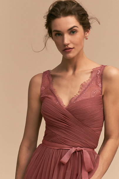 Hitherto Pink Cherry Fleur Dress | BHLDN