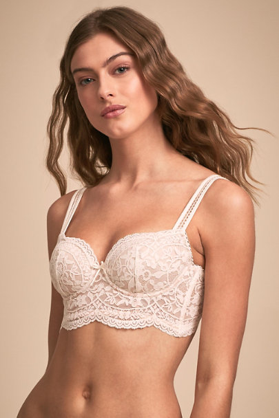 Pleasure State Ivory Andria Balconette Bra | BHLDN
