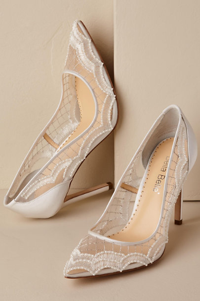 Bella Belle Chilli Nadia Scallop Heels | BHLDN