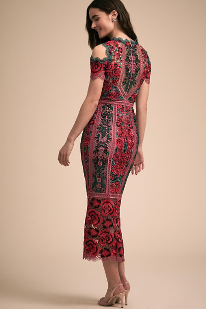 Marchesa Notte Red Carmelita Dress | BHLDN