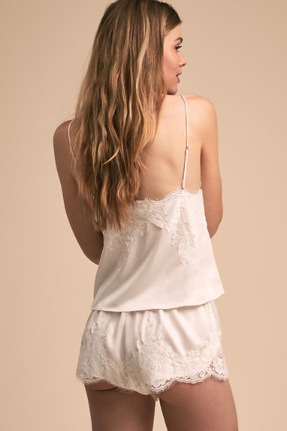 Homebodii Ivory Olivia Cami & Short Set | BHLDN