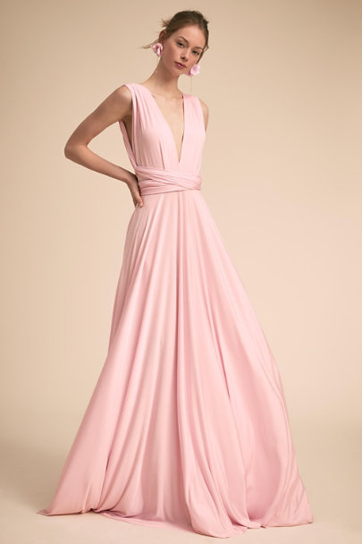 twobirds Ballet Pink Ginger Convertible Maxi Dress | BHLDN