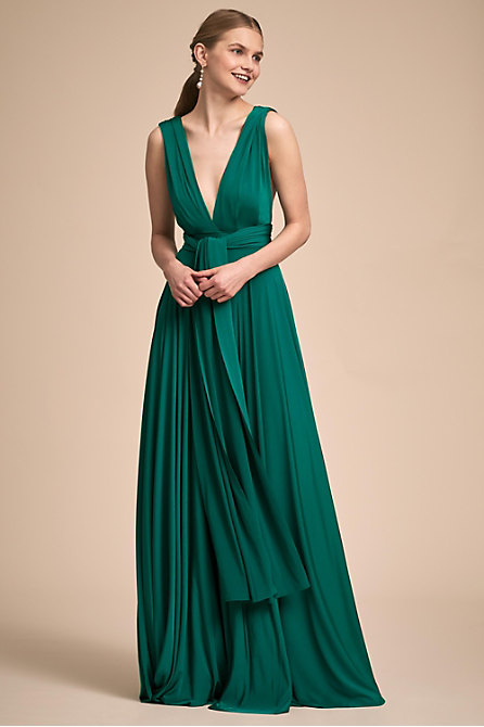 Ginger Convertible Maxi Dress Heather In Bridesmaids