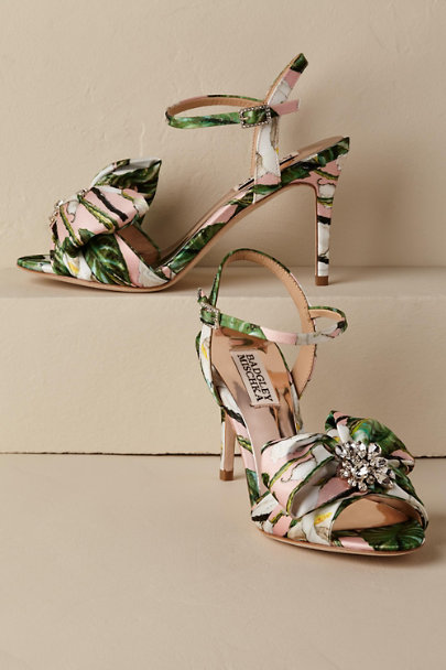 Badgley Mischka Pink Samantha Heels | BHLDN