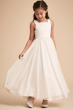 One Shoulder Flower Girl Dress
