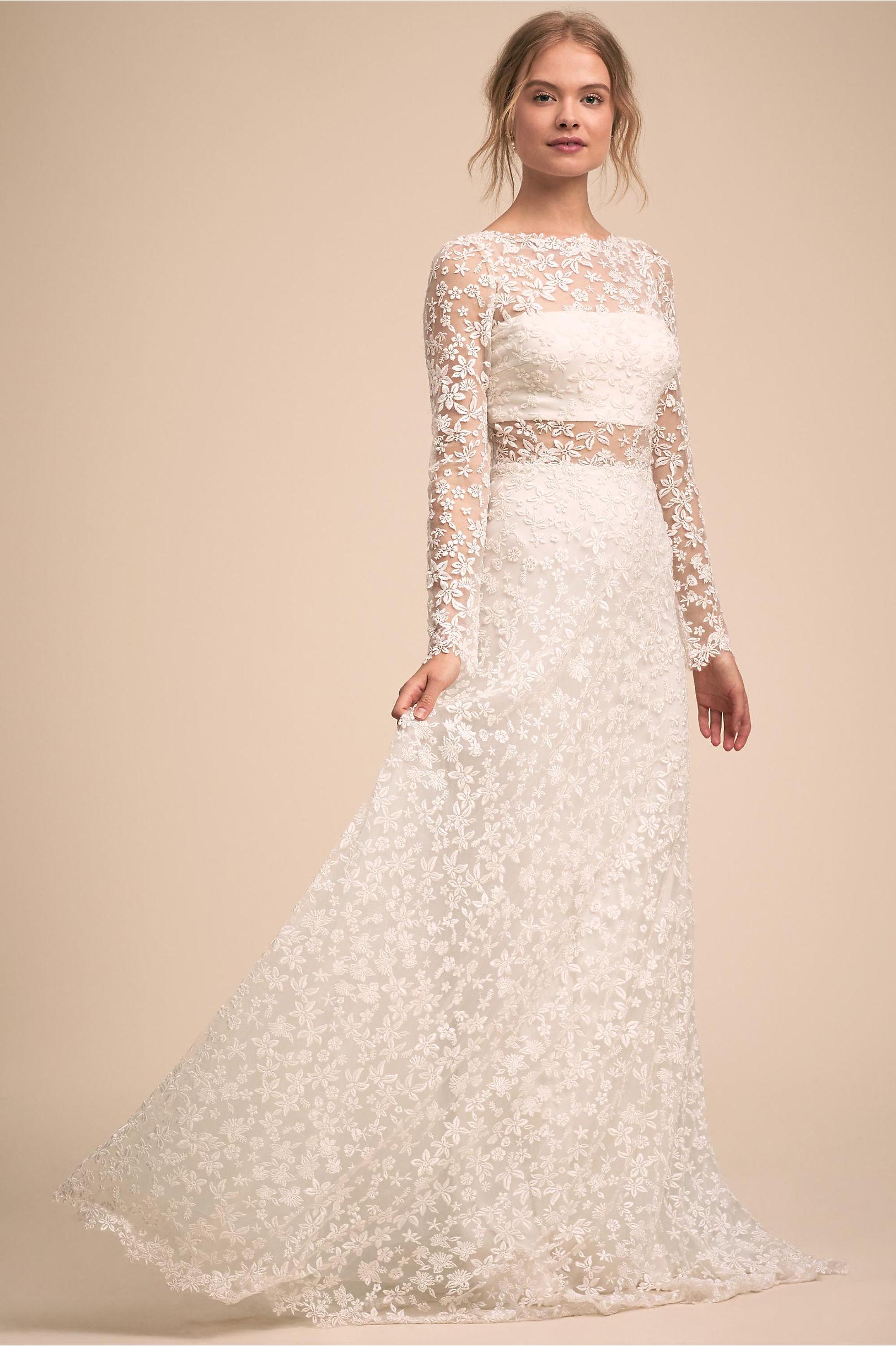 Celestine Gown Cloud White in Bride   BHLDN