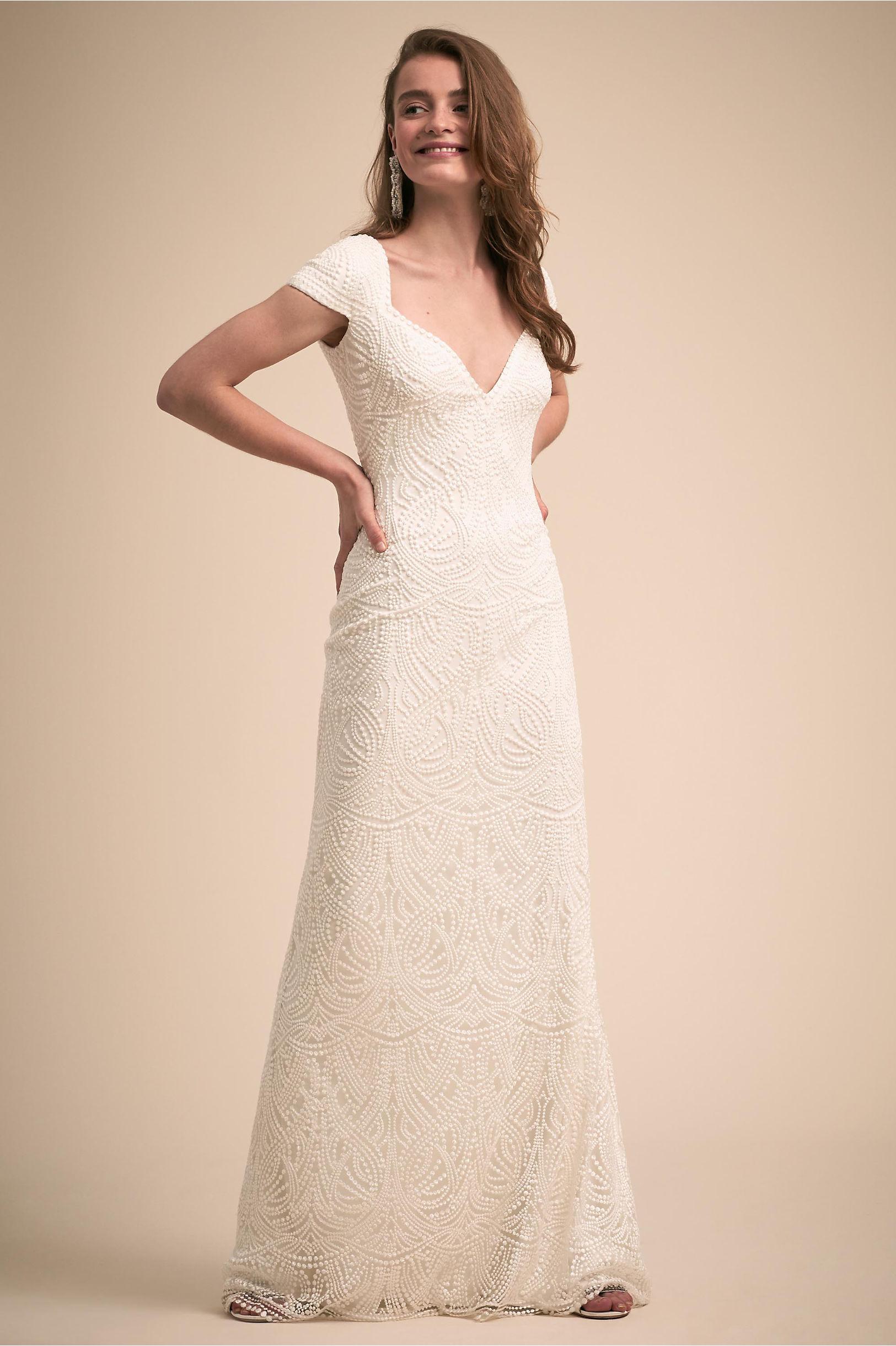Leeds Gown Ivory in Bride | BHLDN