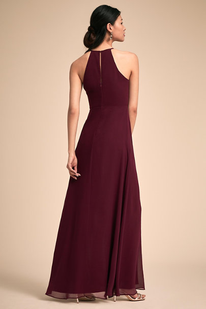 BHLDN Wine Marco Dress | BHLDN