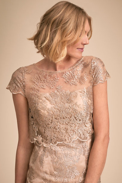 Adrianna Papell Rosegold/Nude Linda Dress | BHLDN