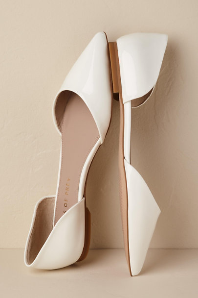 Shoes of Prey Ivory Lima Flats | BHLDN