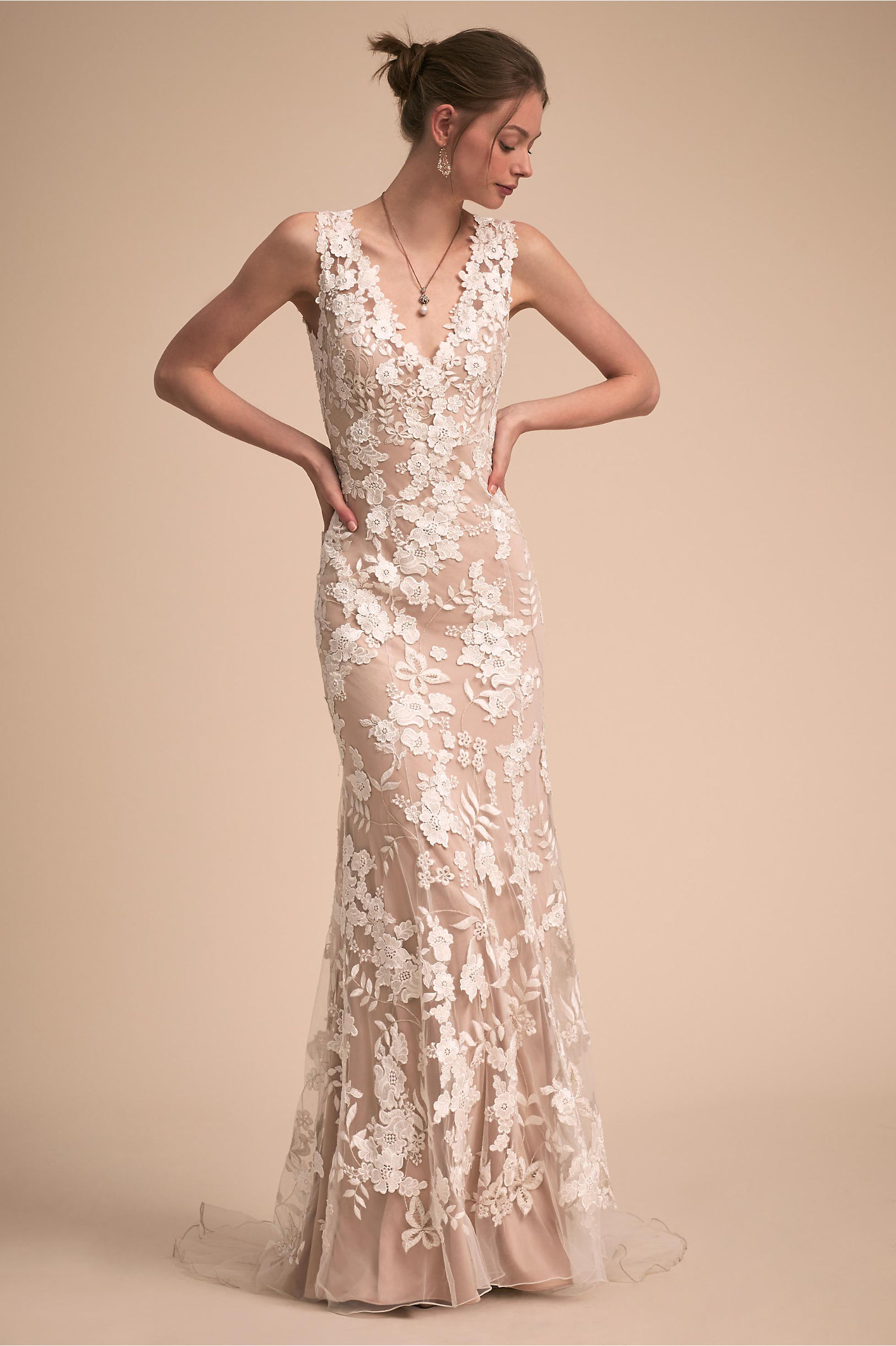 Liesel Gown Nude/Ivory in New | BHLDN