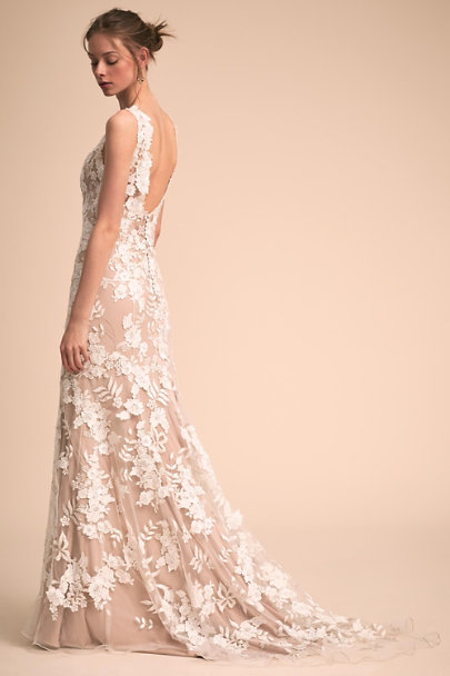 BHLDN Nude/Ivory Liesel Gown | BHLDN