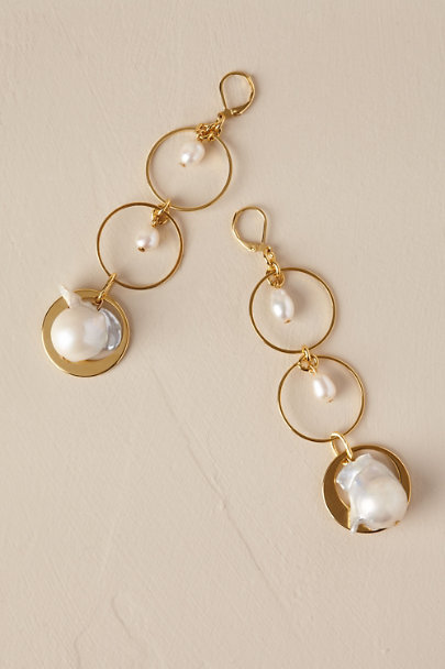 Gold Brea Chandelier Earrings | BHLDN