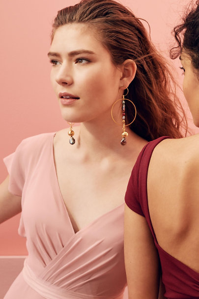 Gold Hermia Hoop Earrings | BHLDN