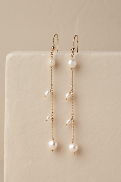 Marcia Moran Gold Praia Drop Earrings | BHLDN