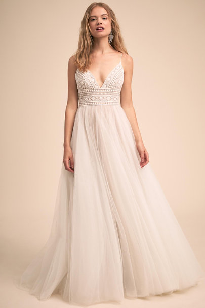Watters Ivory/Bronze Colbie Gown | BHLDN