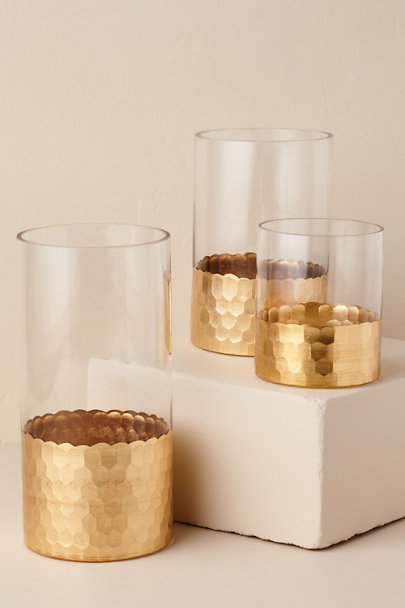 Gold Dipped Gold Vase | BHLDN