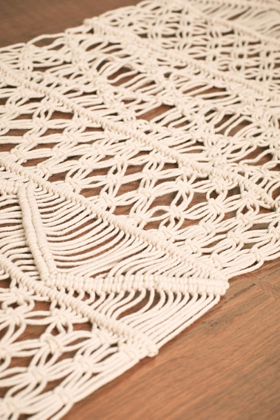 Neutral Mirabella Table Runner | BHLDN
