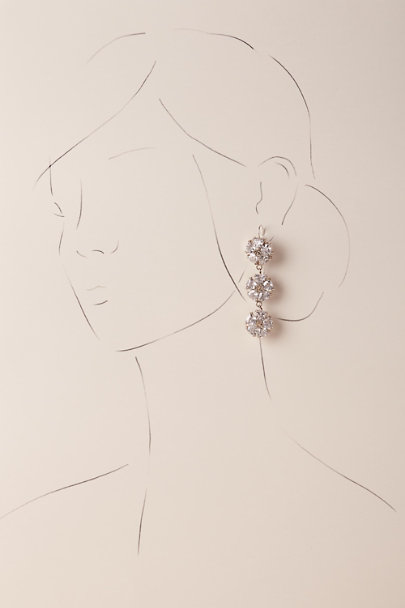 Beautiful Life Infinity Silver Dalton Drop Earrings | BHLDN