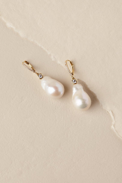 Nina Ivory Galene Drop Earrings | BHLDN