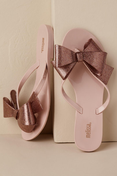 Melissa Shoes Sand/Sable Harmonic Bow Flip-Flop | BHLDN