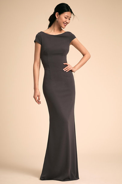 Katie May Charcoal Madison Dress | BHLDN