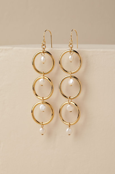 Gold Salerno Drop Earrings | BHLDN