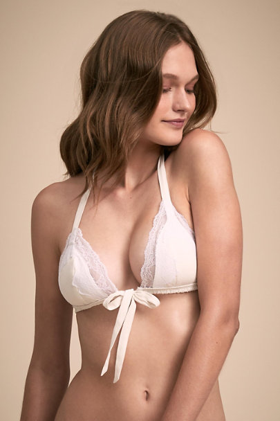 f93d7b8be4457 Tie Bralette Ivory in Sale