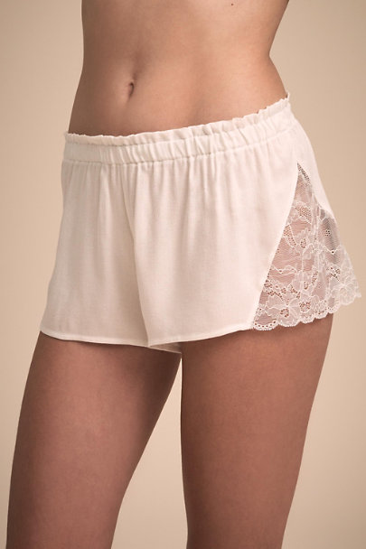 Kaki Intimates Ivory Lace Tap Short | BHLDN