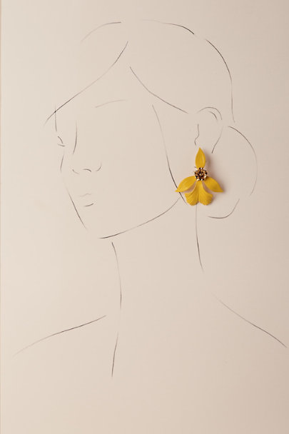 Jennifer Behr Canary Goldenrod Earrings | BHLDN