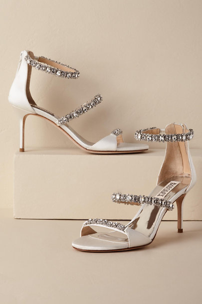 Badgley Mischka White Yasmine Heel | BHLDN