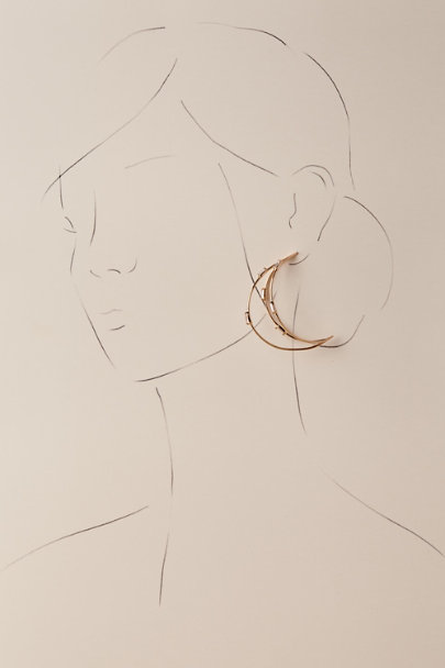 Atelier Mon Gold Saskia Hoop Earrings | BHLDN
