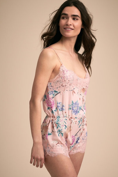 Homebodii Pink Boho Romper | BHLDN