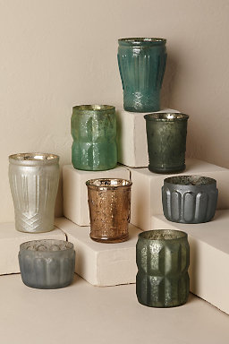 Shades of Blue & Green Votive Set