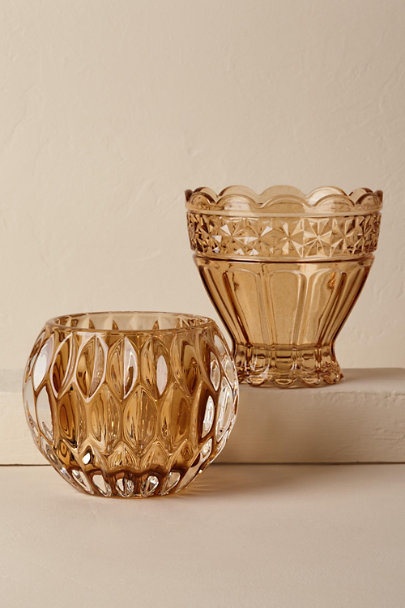 View larger image of Pressed Glass Votive