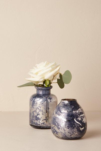 Purple Marbled Mercury Bud Vase | BHLDN