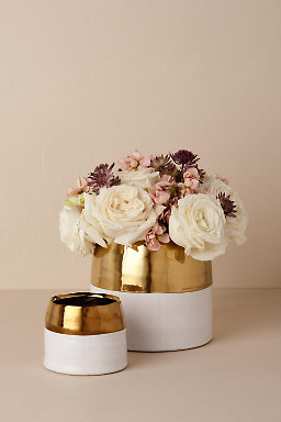 Metallic Dipped Flower Pot