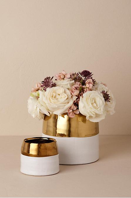 Metallic Dipped Flower Pot
