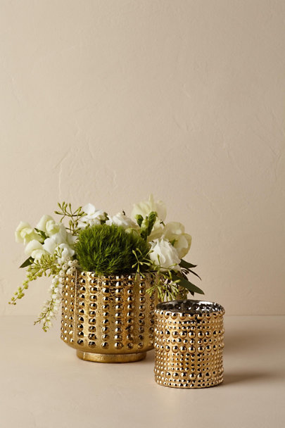 Bronze Textured Gold Votive | BHLDN
