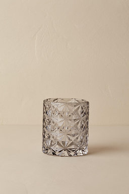 Etched Grey Votive