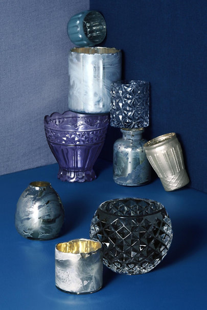 View larger image of Etched Grey Votive