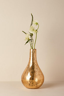 Copper Bottleneck Vase