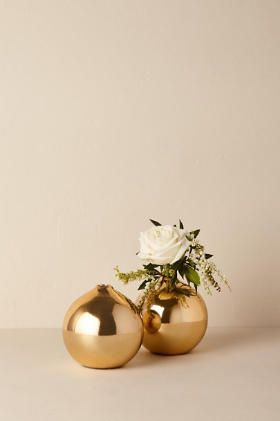 View larger image of Gold Stoneware Vase