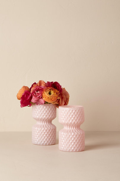 Pink Round Etched Vase | BHLDN