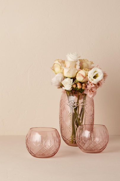 Rose Etched Glass Votive | BHLDN