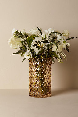 Chevron Etched Vase