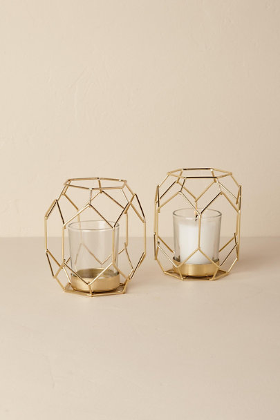 Gold Gold Deco Tealight Holder | BHLDN
