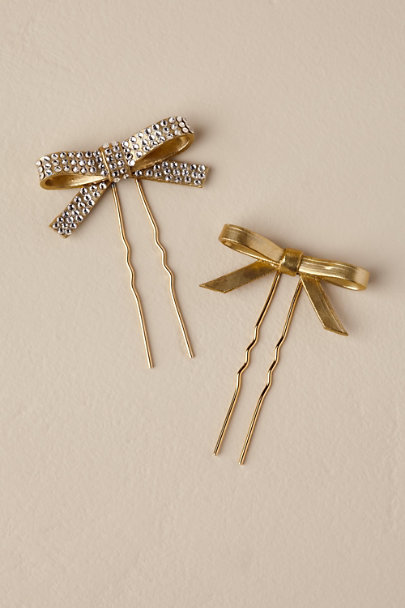 Twigs & Honey Gold Tie The Knot Pin Set | BHLDN