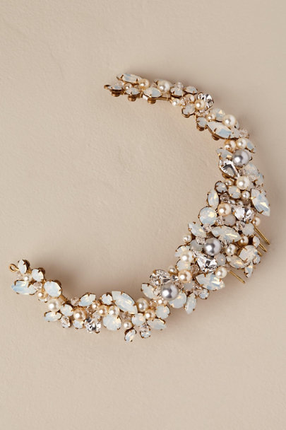 Paris by Debra Moreland Gold Minerva Headband | BHLDN
